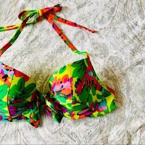 Aerie Floral Bridget Double Knot Bikini Top 36C